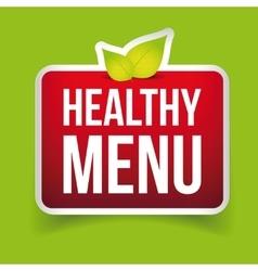 Healthy menu sign red vector