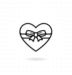heart gift box icon vector image