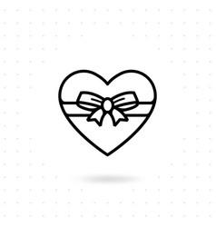 Heart gift box icon vector