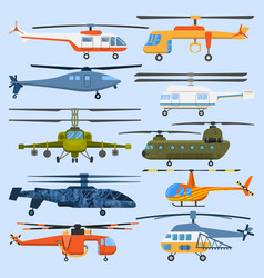 Helicopter air transport propeller aerial vehicle vector