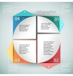 Infographics business template vector