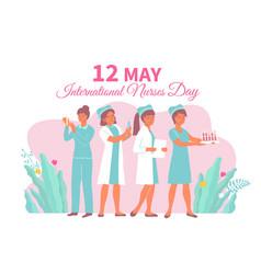 International nurses day card vector