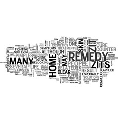 Is there a true home remedy for zits text vector