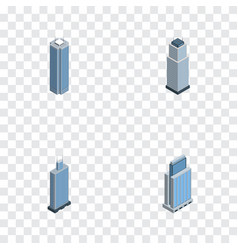 Isometric skyscraper set of urban skyscraper vector