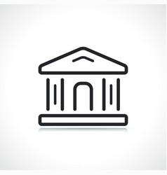 justice or bank building icon vector image