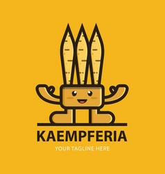 kaempferia mascot logo template vector image