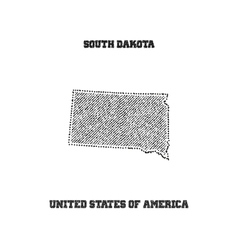 Label with map of south dakota vector image