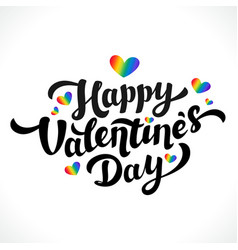 Lgbt community happy valentines day design 14th vector