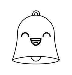 line icon bell cartoon vector image
