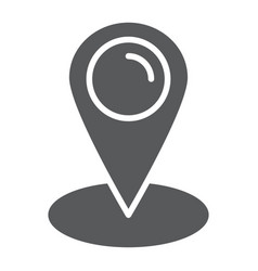 location glyph icon gps and navigation map pin vector image