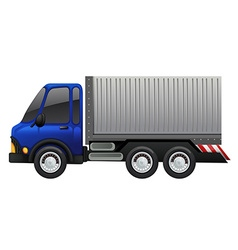 Lorry truck on white background vector