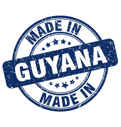 made in guyana blue grunge round stamp vector image