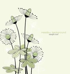 meadow vector image