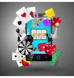 Mobile games concept vector