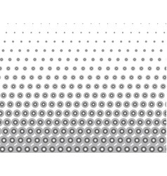 monochrome seamless pattern of halftone vector image