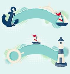 nautical banners vector image