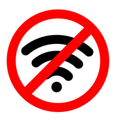 no wifi sign symbol on white background vector image