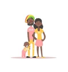 Parents and a barastafarian family vector