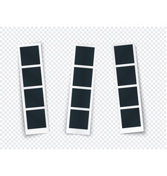 photo strip set with different shadow isolated vector image
