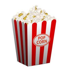 Popcorn basket icon cartoon style vector