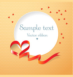 Postcard with red ribbon vector