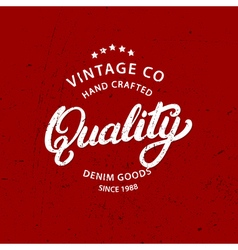Quality hand written lettering vector