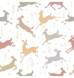 Seamless background deer vector