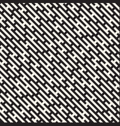Seamless black and white lines maze pattern vector