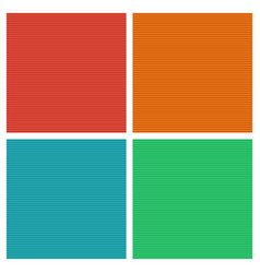 Set colored seamless geometric striped patterns vector