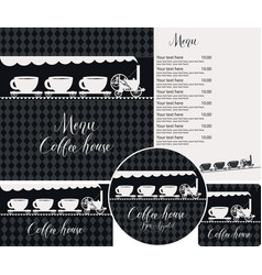 set design elements for coffee house vector image
