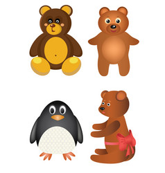 set of funny toys vector image