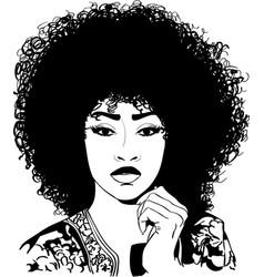 Sexy afro eps vector