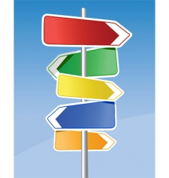 signpost vector image
