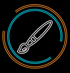 simple paint brush thin line icon vector image