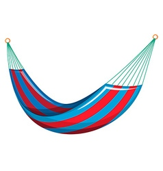 Swing bed in red and blue colors vector