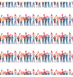 teamwork and startup seamless pattern business vector image