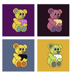 Teddy bear vector