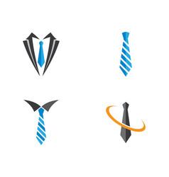 Tie logo template vector