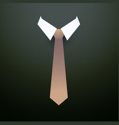 Tie with collar background vector