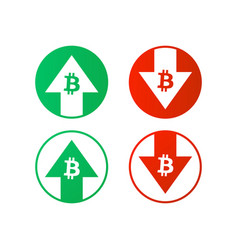 up down bitcoin sign vector image
