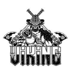 vikingi helmet 0007 vector image
