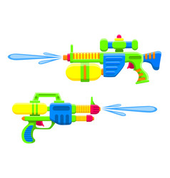 water guns bright multi-colored childrens toys vector image