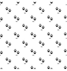 Wolf step pattern seamless vector