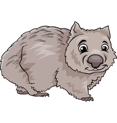 Wombat animal cartoon vector