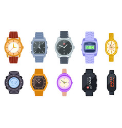 wristwatch female digital smart clock isolated vector image