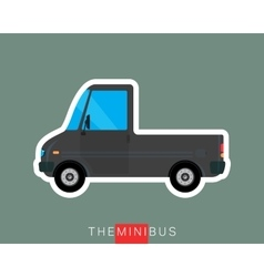 Pickup bus isolated vector