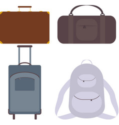 suitcase bag backpack vector image