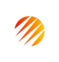 abstract round arrow technology logo vector image vector image