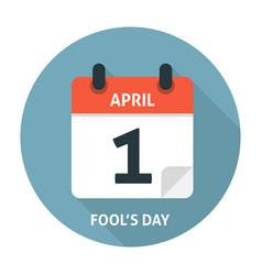 Calendar flat icon April 1 Fools Day vector image