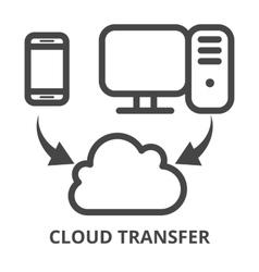 Cloud synchronization icon vector image vector image
